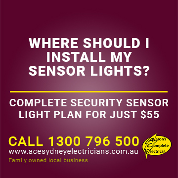 Know Where Your Sensor Lights Need to Be At